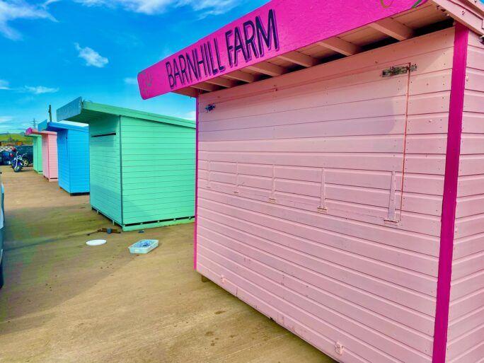 New market stalls at Barnhill Farm
